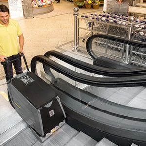 Stair and escalator cleaner